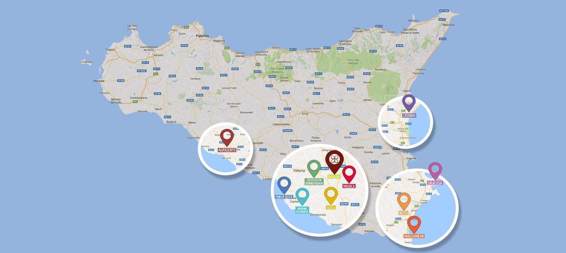Cartina Noto Sicilia.Territorio Epoca Camere Con Stile